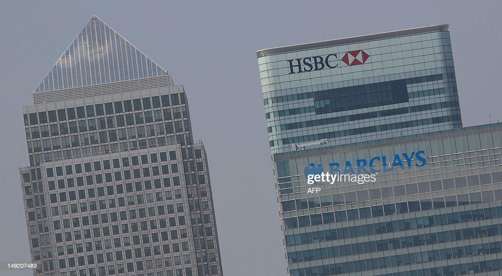 Building of the HSBC and Barclays banks  : Foto di attualità