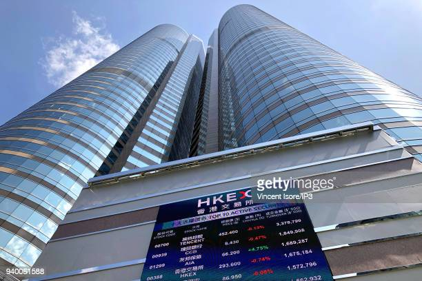 Building of the stock exchange on February 27 2018 in HongKong China HongKong is the third largest financial centre in the world and the HongKong...