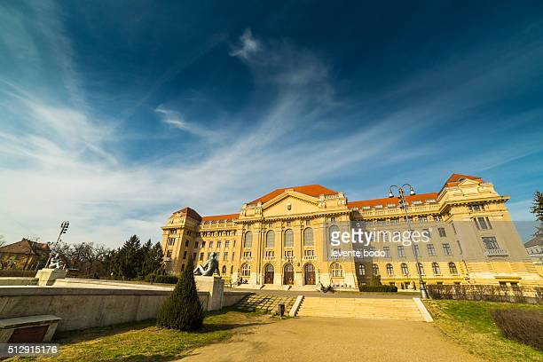 building of the university debrecen, hungary - レジーナ ストックフォトと画像
