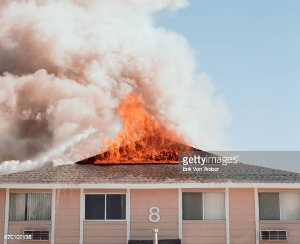 building on fire - burning stock pictures, royalty-free photos & images
