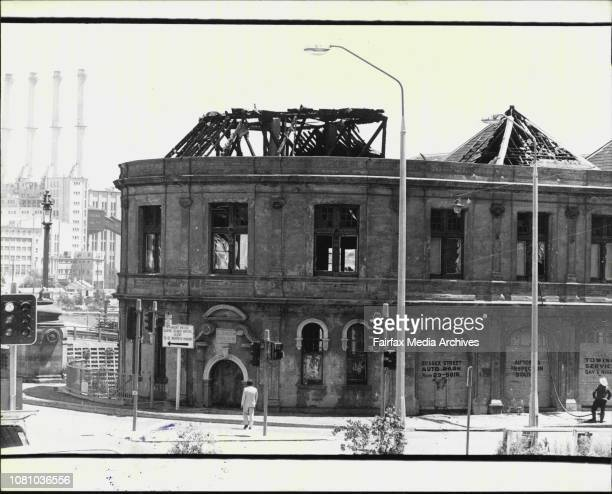 Building on the corner of Sussex and Market St's City gutted by fire the night before A small amateur theater group whose workshop was burnt out at...