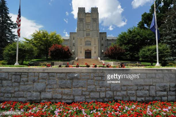 building on virginia tech campus - blacksburg stock pictures, royalty-free photos & images