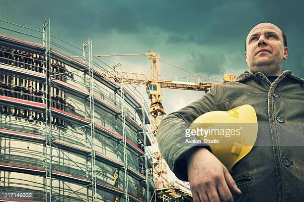 Building site and worker
