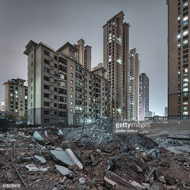 Building site new residential areas China