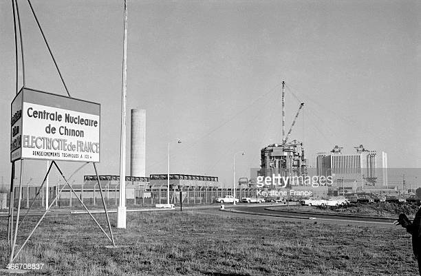 Building site of the Chinon nuclear power plant in 1962