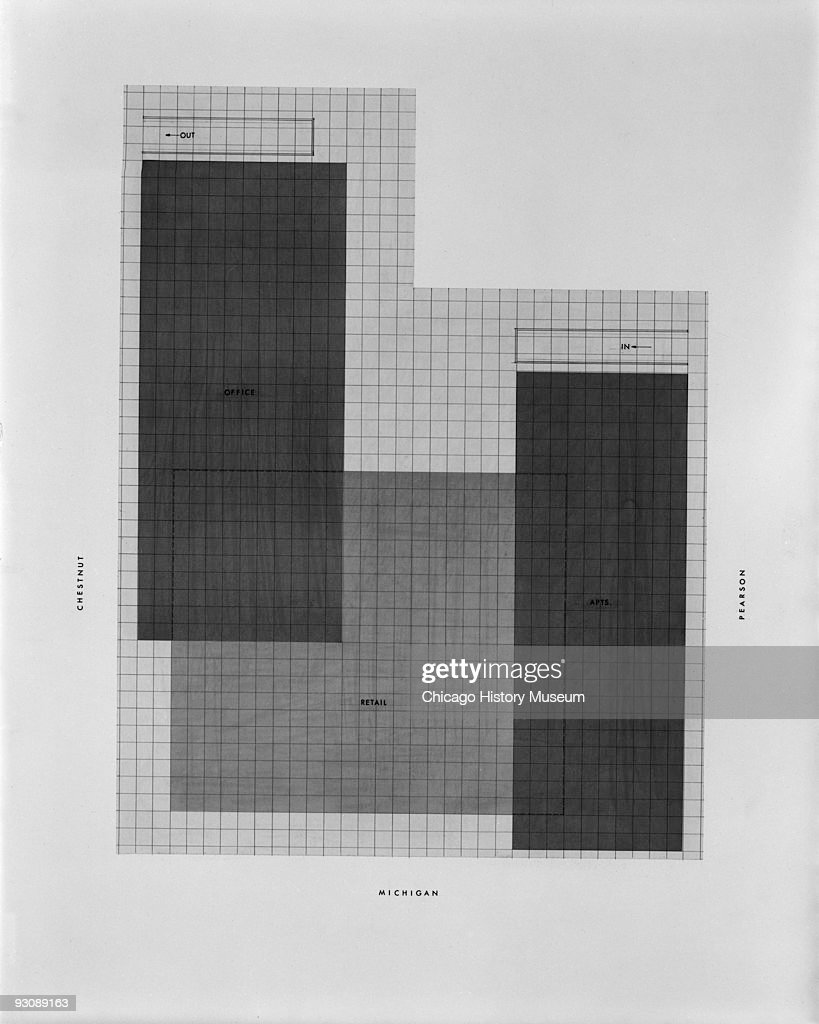 Building site plan for a design of a commercial complex in