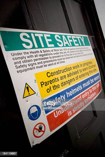 Building Site Safety Rules Poster