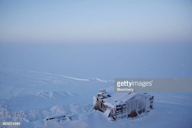 A building stands at the edge of the Caelus Energy LLC Oooguruk Development Project in Harrison Bay Alaska US on Friday Feb 17 2017 Four decades...
