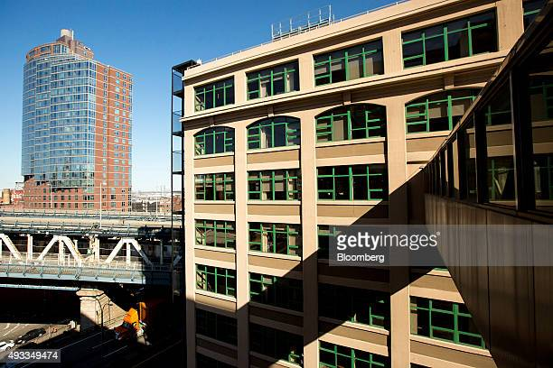 A building stands in the Dumbo Heights campus right in the Brooklyn borough of New York US on Thursday Oct 15 2015 Dumbo Heights a group of...