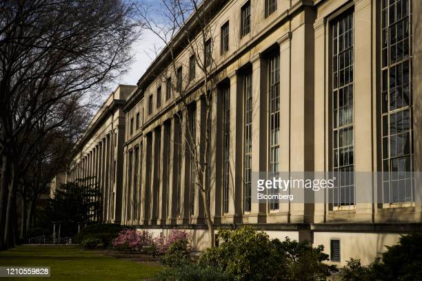 A building stands on the Massachusetts Institute of Technology campus in Cambridge Massachusetts US on Monday April 20 2020 Collegefinancial aid...