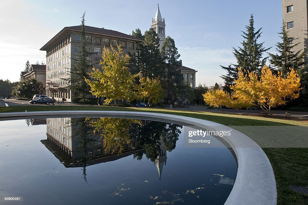 A building stands on the University of California Berkeley