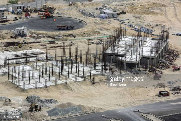 A building stands under construction at a development site operated by China Overseas Ports Holding Co near Gwadar Port in Gwadar Balochistan...
