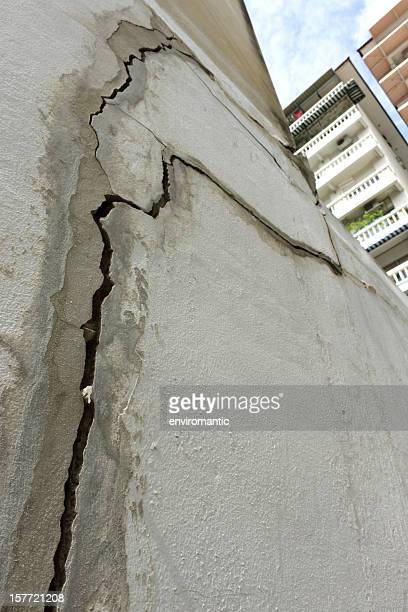 Building subsidence.