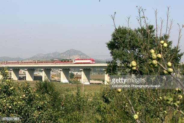 Building the new railway between Jinzhou and Qinghuangdao September 2005