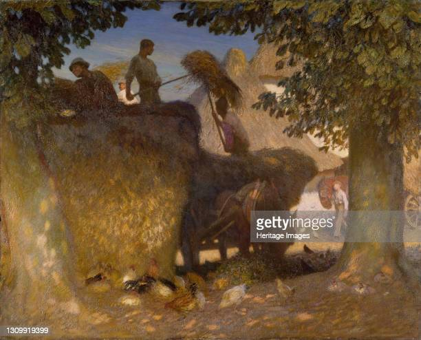 Building the Rick, 1907. Artist George Clausen. .