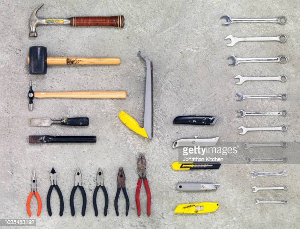 building tools 7 - toolbox stock photos and pictures