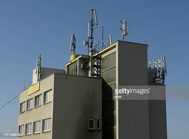 Gebäude top mit Antennen-führen darf