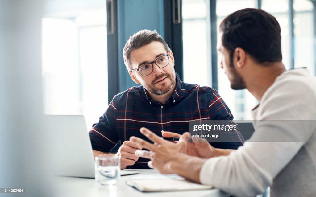 Building up on their ideas : Stock Photo