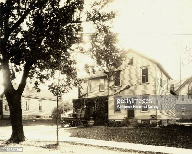 Building used for the first dairy school at the University of Wisconsin as it appeared in 1920 Madison Wisconsin 1920
