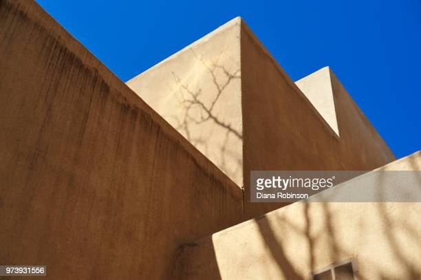 Building wall against clear sky, Santa Fe, New Mexico, USA
