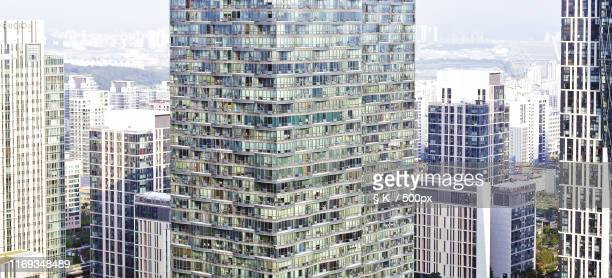 building window - incheon stock pictures, royalty-free photos & images