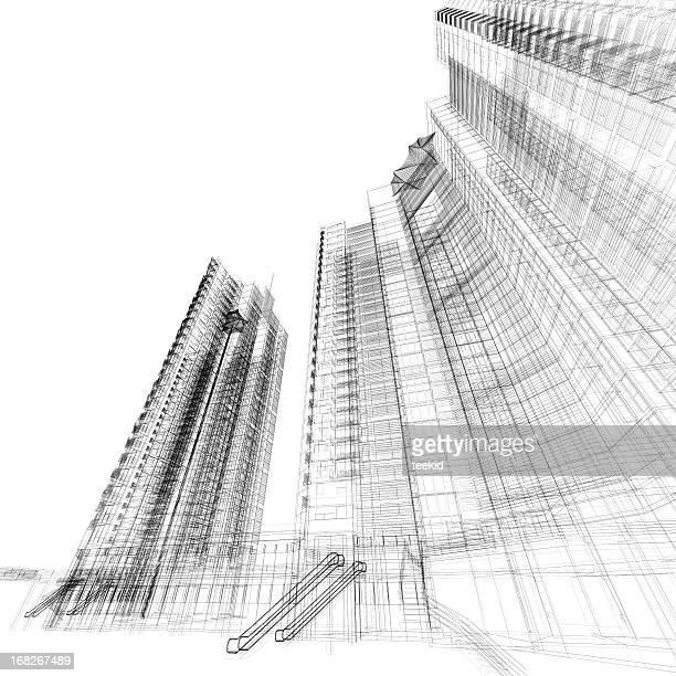 Gebäude Gitternetzlinien