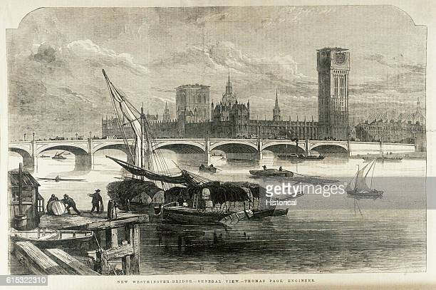 Building work began on Westminster Bridge in 1855 and was completed in 1862 Some of this work was done at night by electric light provided by a 72...