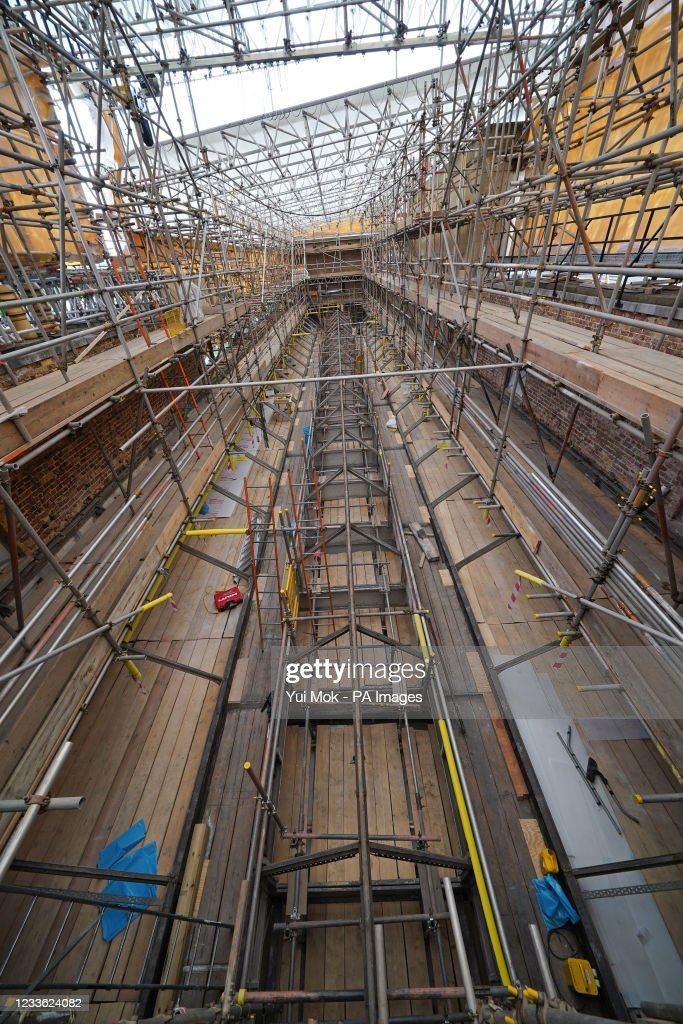 Building work at Buckingham Palace : News Photo