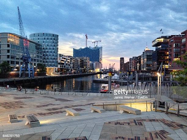 Buildings Against Cloudy Sky At Hafencity