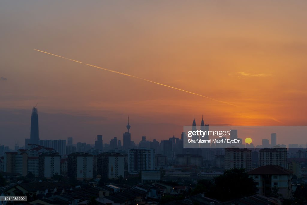 Buildings Against Sky During Sunset : Stock Photo