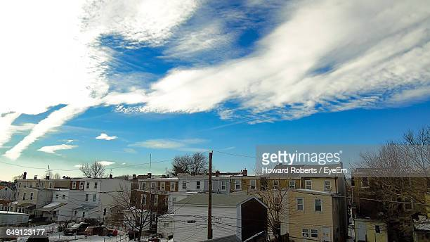 buildings against sky during winter - montgomery county pennsylvania stock pictures, royalty-free photos & images
