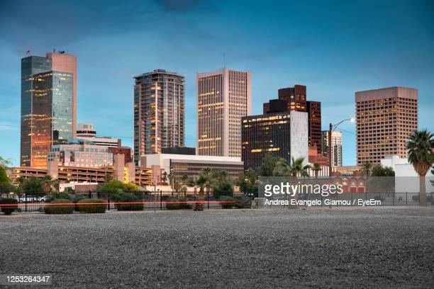 buildings against sky - phoenix arizona stock pictures, royalty-free photos & images