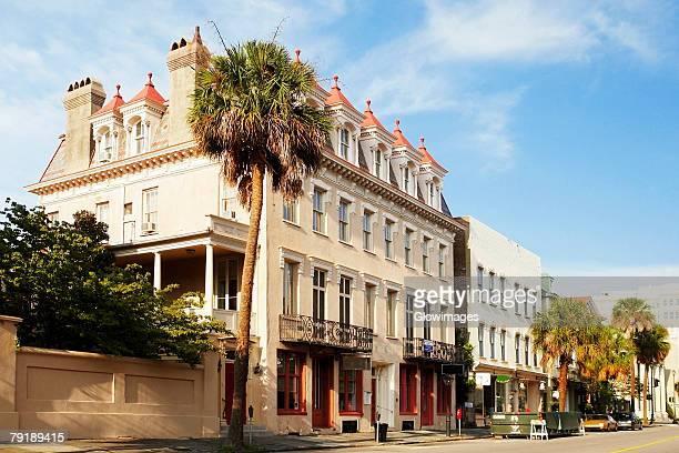 Buildings along a road, Charleston, South Carolina, USA