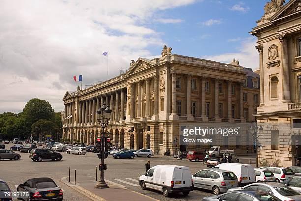 buildings along a road, hotel crillon, paris, france - place de la concorde stock pictures, royalty-free photos & images