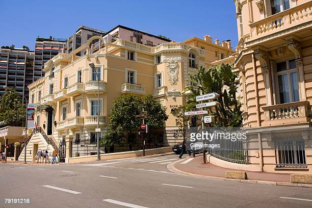 Buildings along a road, Monte Carlo, Monaco