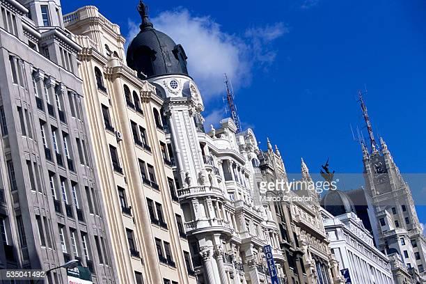 Buildings Along Gran Via in Madrid