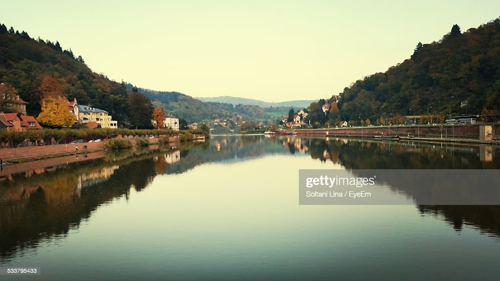Buildings Along River : Foto stock