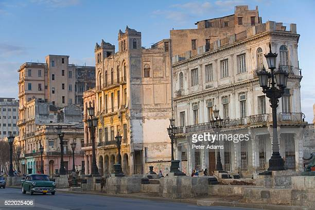 buildings along street in prado - old havana stock pictures, royalty-free photos & images