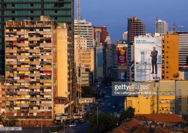 Buildings along the Marginal promenade called avenida 4 de fevereiro Luanda Province Luanda Angola on July 21 2018 in Luanda Angola