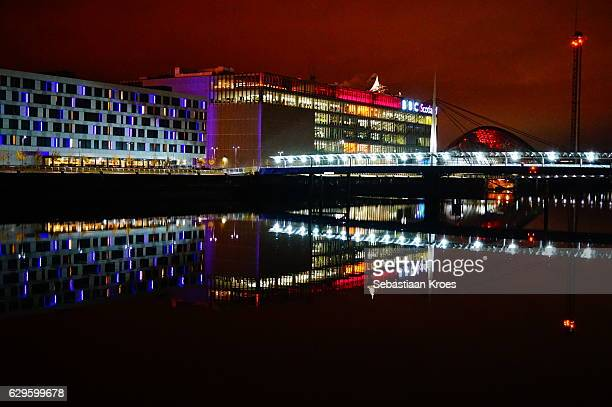 Buildings along the River Clyde, Glasgow, United Kingdom