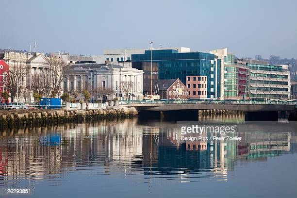 buildings along the river lee - cork city stock pictures, royalty-free photos & images