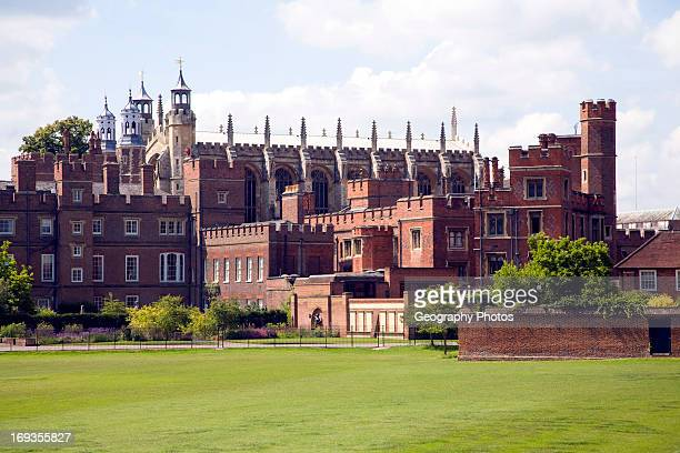 Buildings and playing fields of Eton College Berkshire England
