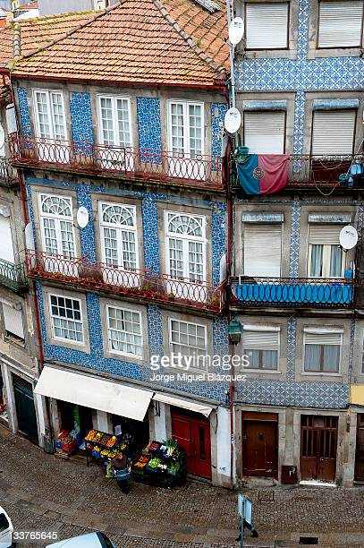Buildings and street of Porto,Portugal