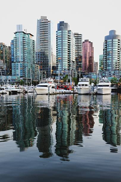 Buildings and yacht club of Vancouver