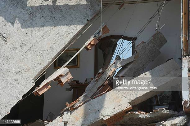 Buildings are destroyed following a 58 magnitude earthquake on May 29 2012 in Bologna Italy The EmiliaRomagna region was again stricken by a series...