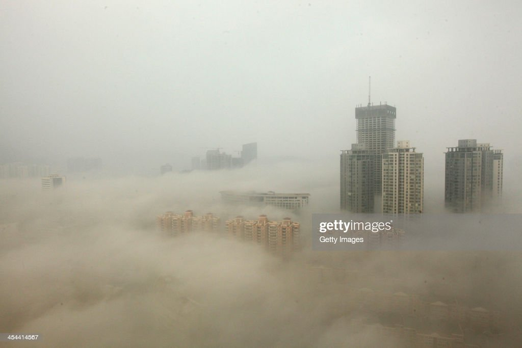 Heavy Smog Hits East China : Foto jornalística