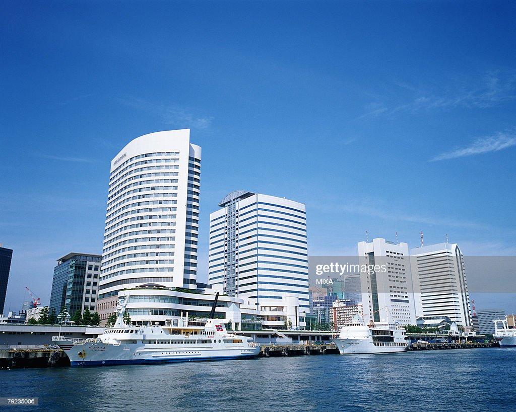 Buildings at Takeshiba Pier, Tokyo, Japan : Stock Photo