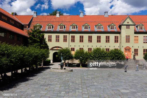 buildings at the norwegian museum of cultural history in oslo, norway - palace stock pictures, royalty-free photos & images