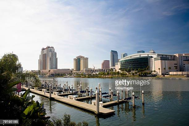 Buildings at the waterfront, Hillsborough River, Tampa, Florida, USA