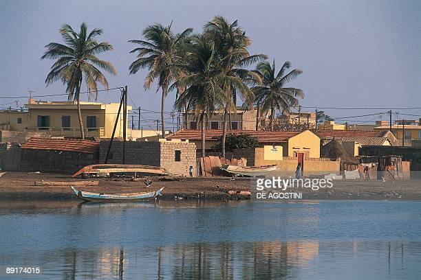 Buildings at the waterfront N'dar Toute St Louis Senegal
